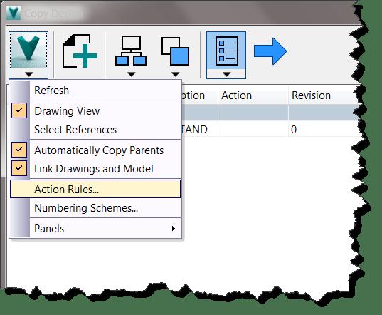 Copy Design App Menu