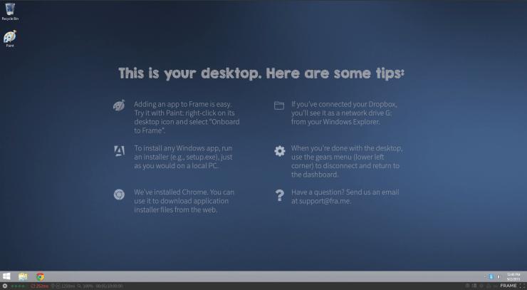 Frame - Desktop Tips