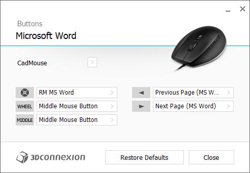 CadMouse - MSWordConfig