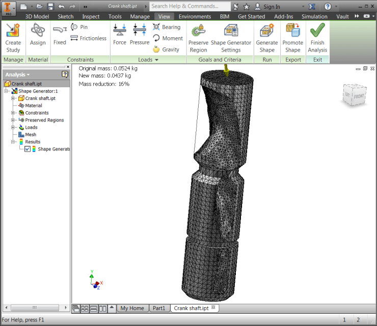Inventor 2016 R2 - SG Meshed Part