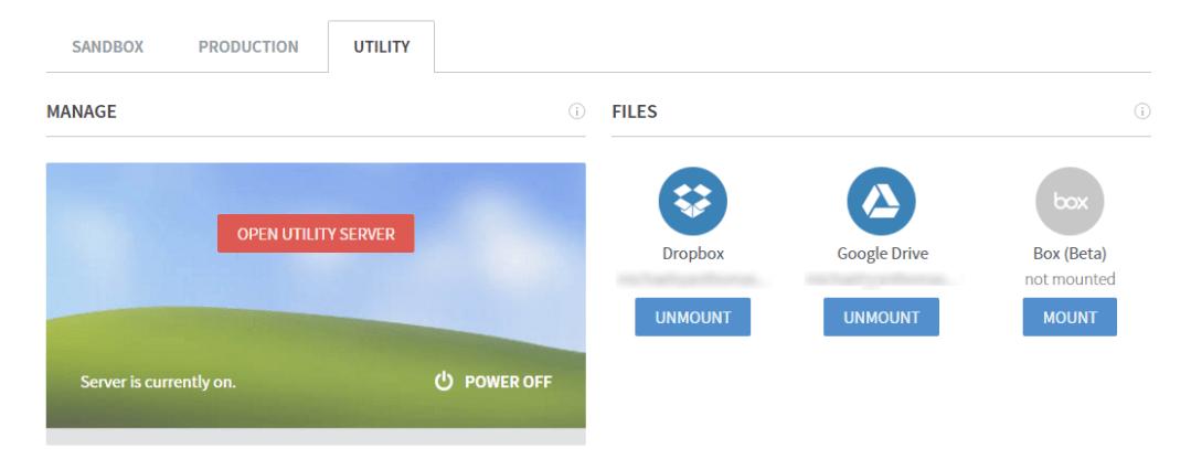 Frame - Utility Server Access