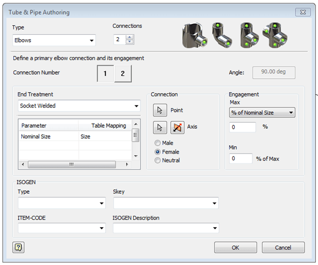 Inventor 2017 Tube Pipe Authoring Dialog