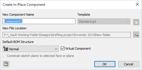 Inventor Create Virtual Component