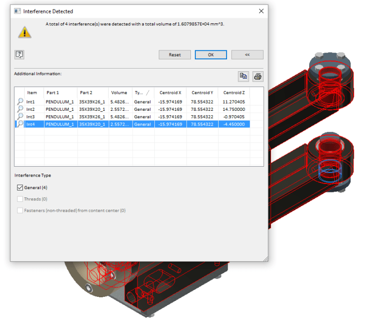 Inventor 2017 R3 Interference Updates