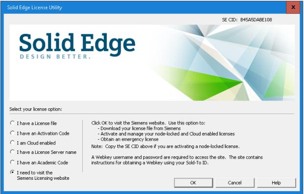 Siemens Solid Edge ST9 Cloud Licensing