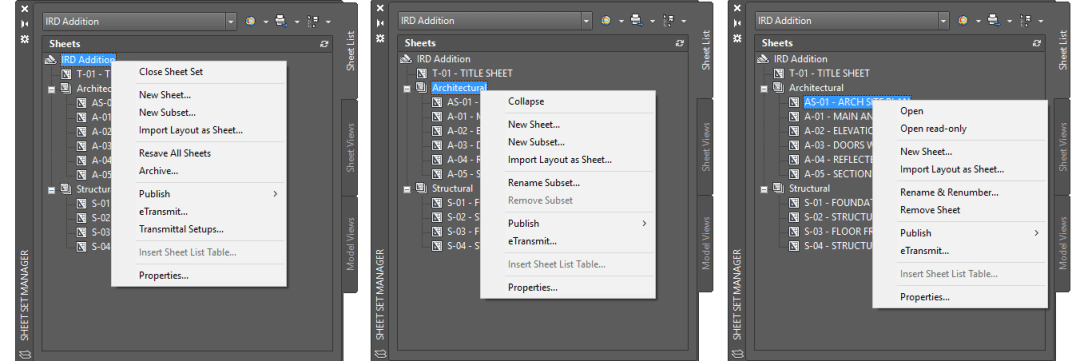 AutoCAD-Sheet-Set-Manager-Right-Click-Options