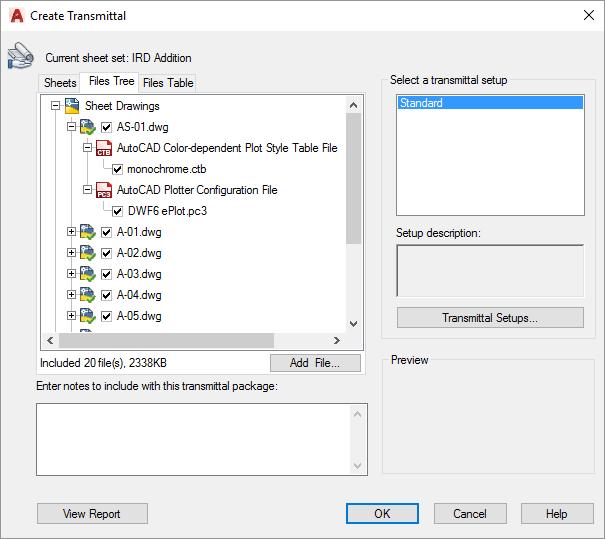 AutoCAD-Create-Transmittal-Files Tree