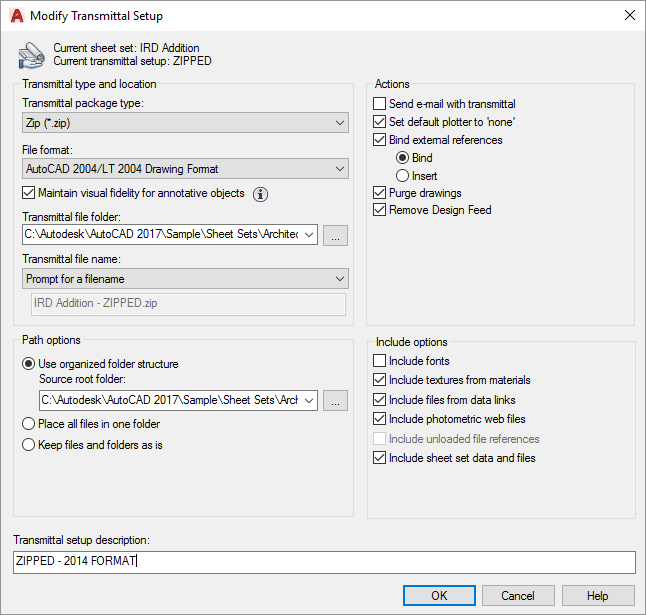 AutoCAD-Sheet-Sets-Modify-Transmittal-Setup