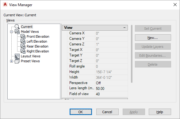 AutoCAD View Manager