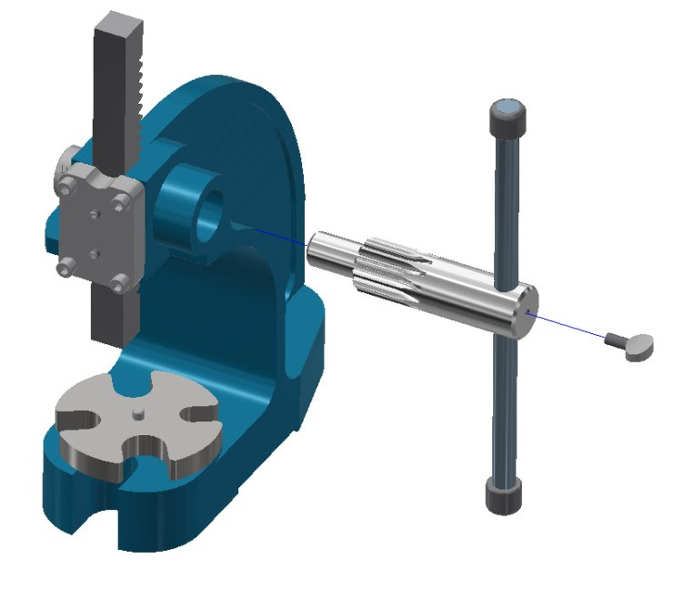 Arbor Press Handle Assembly