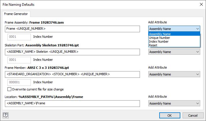 Inventor 2019.2 File Naming Defaults