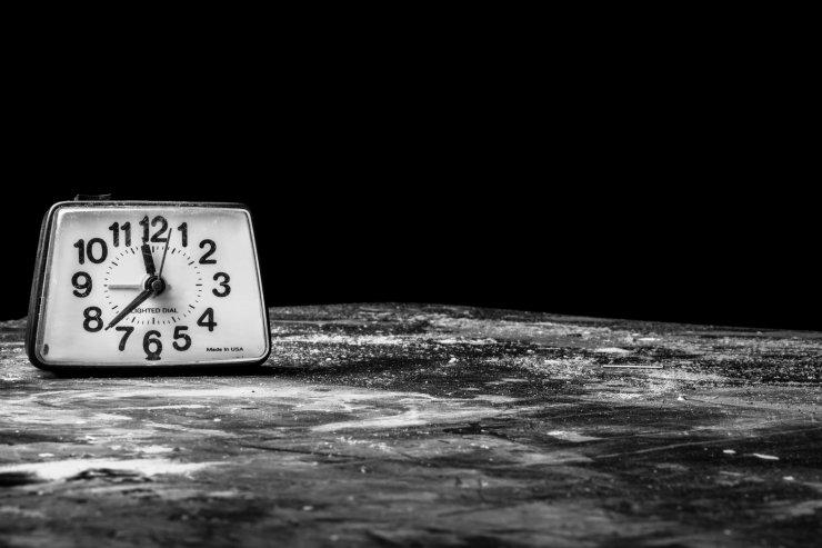 Old Vintage Alarm Clock Time Management