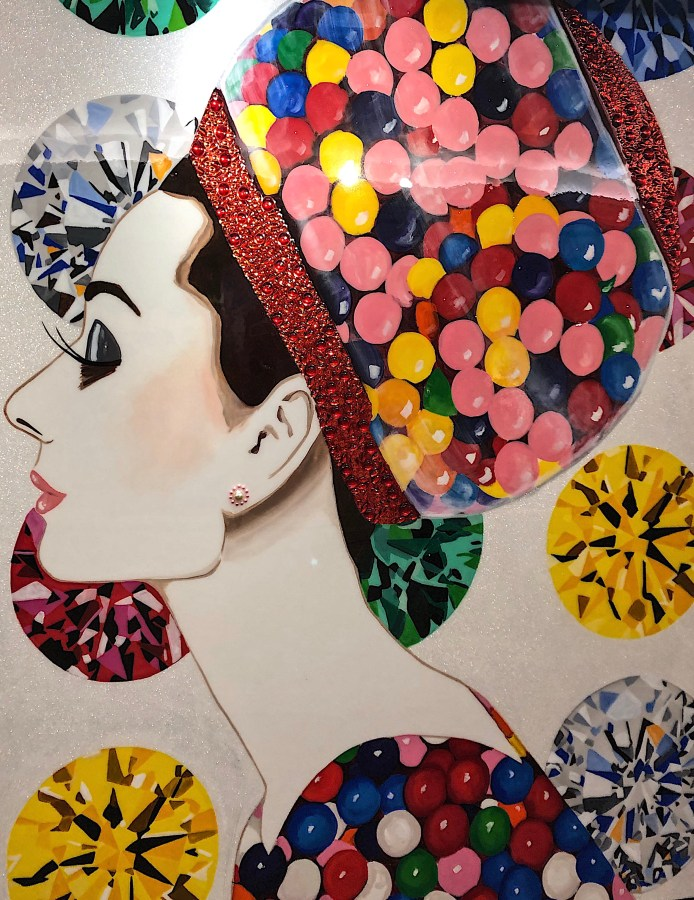 Design and Style Report, artwork by Ashley Longshore at Bergdorf Goodman