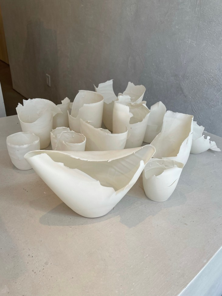 Design and Style Report image, Katherine Glenday porcelain works at Les Atelier Courbet NY