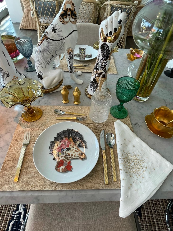 Design and Style Report image, Hoildy House Designs Tabletop event at Topping Rose House, Bridgehampton, Elsa Soyars design