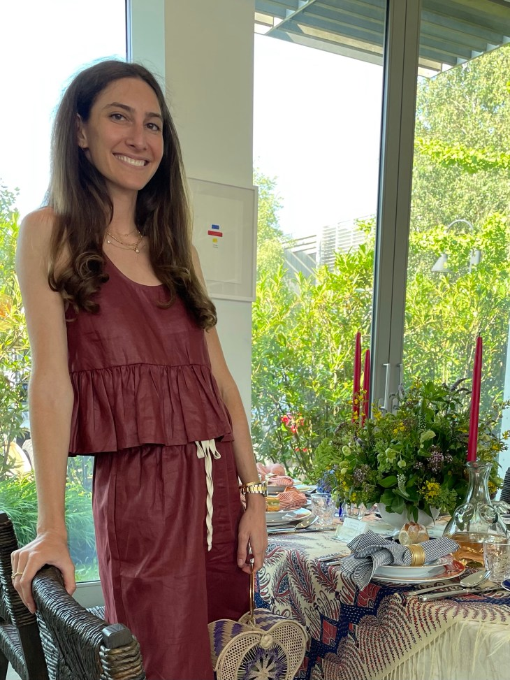 Design and Style Report image, Hoildy House Designs Tabletop event at Topping Rose House, Bridgehampton, Brittany Marom design