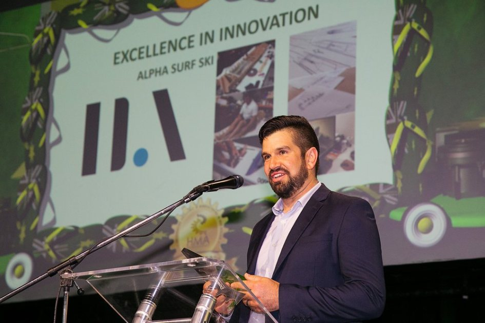 Josh Jeffress accepts the HMA award for Excellence in Innovation