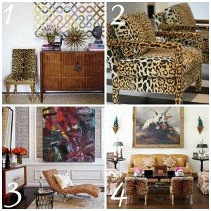 Decorating with Animal Prints: Chairs