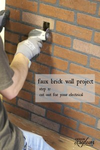 Faux brick wall | Design Asylum Blog