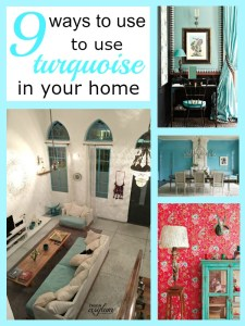 Check out these beautiful rooms using my color crush of the moment, turquoise! Turquoise walls, turquoise floors or turquoise furniture - it's all gorgeous!