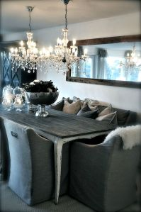 Double hung chandeliers create a major impact in a room. Check out a few of my favorite looks. | Design Asylum Blog