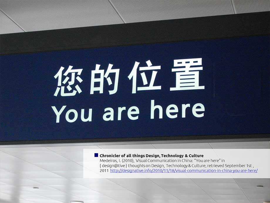 """Visual Communication in China: """"You are here""""?"""