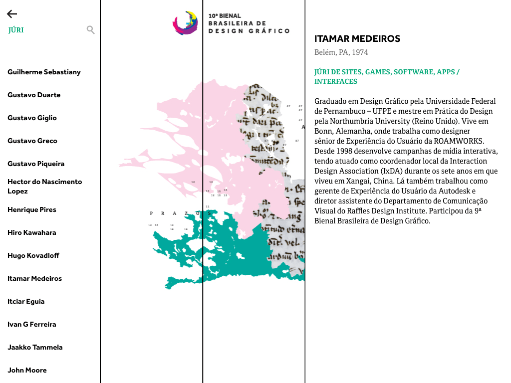 10th Brazilian Graphic Design Biennial: Exhibition Digital Brochure