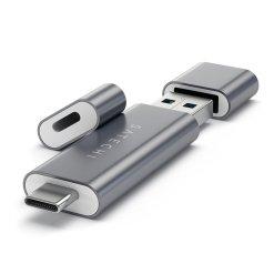 Satechi USB-C och USB3.0 Micro/SD-kortläsare avaluminium