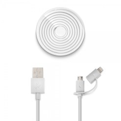 Usbepower DUO - 1.2m Micro-USB och Lightning på samma kabel!