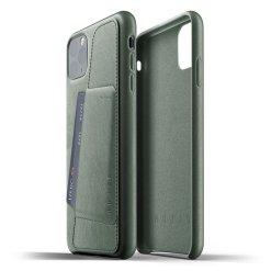 Mujjo Full Leather Wallet Case för iPhone 11 Pro Max - Slate Green
