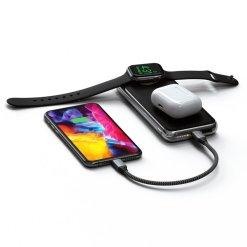 Satechi Quatro - Powerbank med inbyggd Qi-laddning och Apple Watch laddning