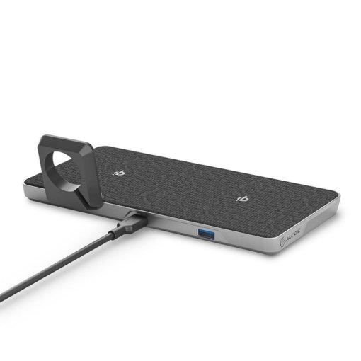 ALOGIC Ultra Power 4-i-1 Trådlös dubbel laddningsdocka med Apple Watch laddare och USB-A utgång