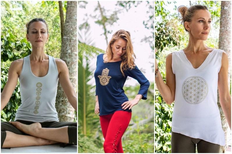 Tílka a trička na jógu s jógovými potisky