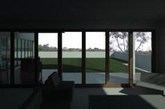 view toward roof garden