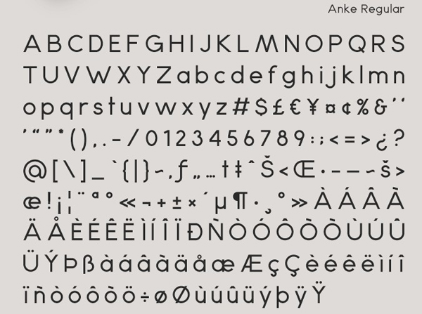 Free Font Of The Day  Anke