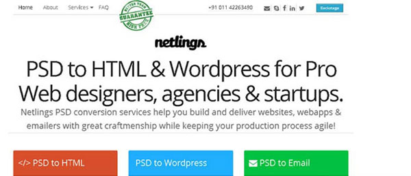 15. PSD To HTML Services