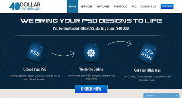 6. PSD To HTML Services