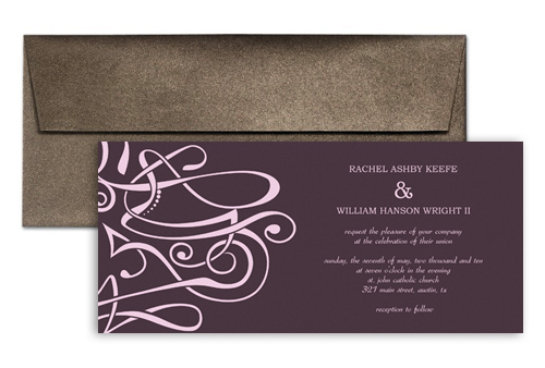 How To Make My Own Clipart Personalized Wedding Invitation 9x4 In Horizontal