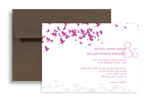 Design Your Own Erfly Wedding Invitation Example 7x5 In