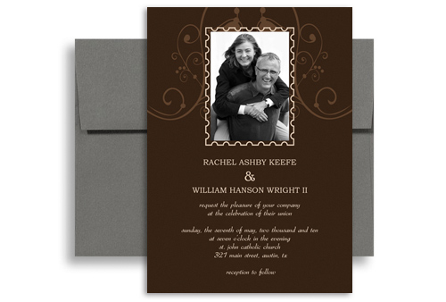 Photo Customise Second Wedding Invitation Example 5x7 In