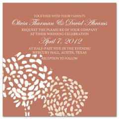 Bibliotheque Fl Pattern Wedding Invitation Templates