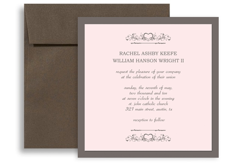 Western American Style Wedding Invitation Templates 5x5 In Square