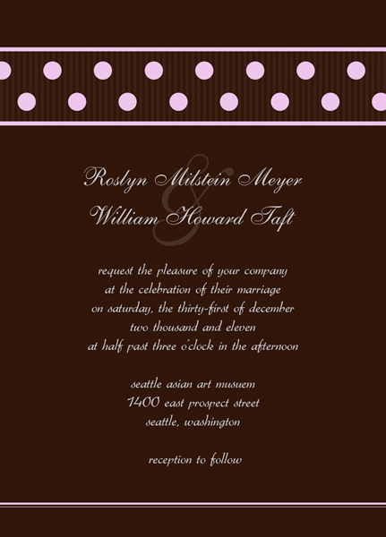 Wedding Invitation Reception Cards