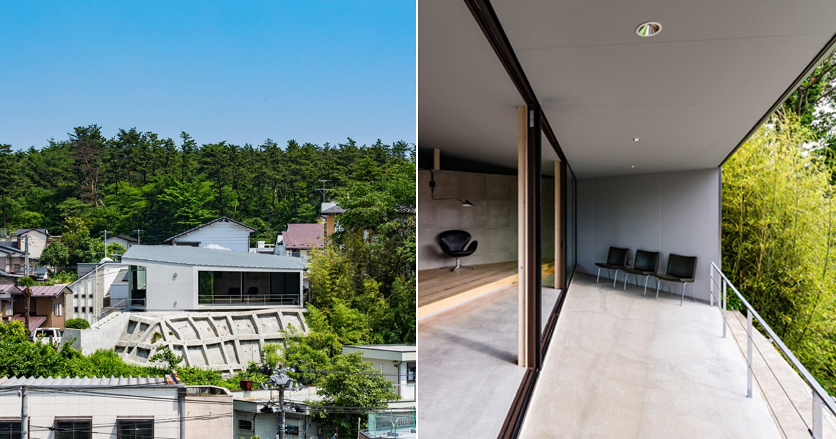 Ginga Architects Builds Concrete House On Top Of A