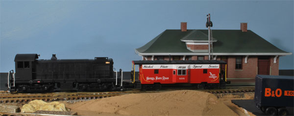 Carrollton depot on John's older layout.