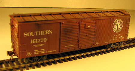 Southern double-sheathed automobile box car