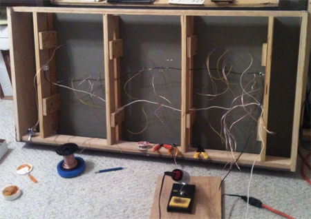 A view of the wiring tasks.