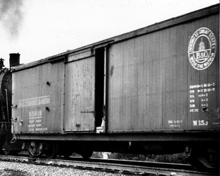 B&O M-15 class double sheathed box car