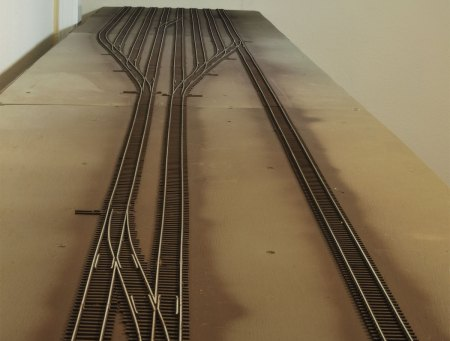 Completed yard tracks.