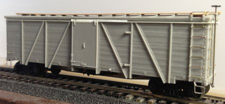 The nearly completed box car.